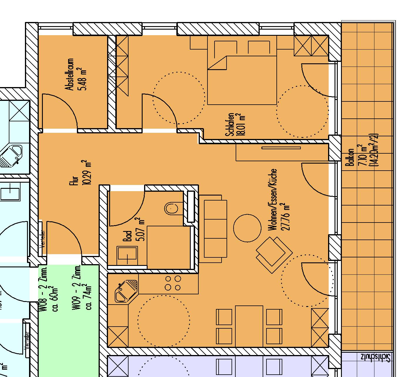 Beispielgrundriss Wohnung